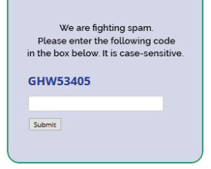 Text CAPTCHA for example for accessibility