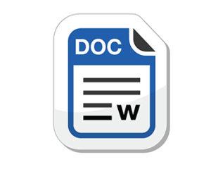 icon of Word Document