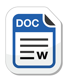 icon of Word document