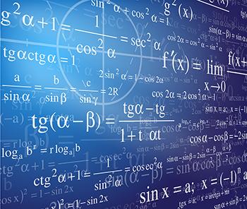 Mathematics background with formulas