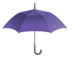 Illustration of blue umbrella