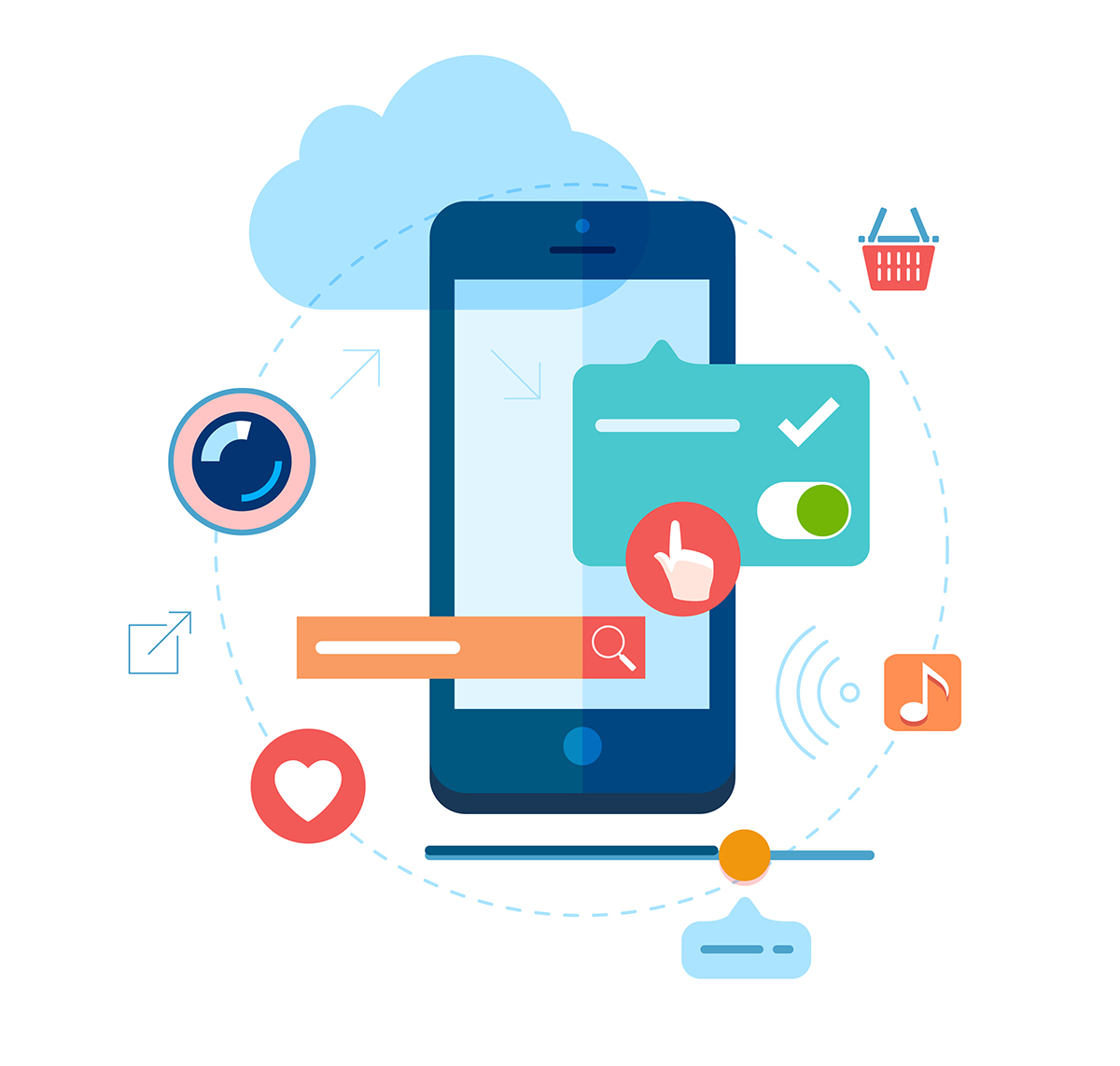 Interface elements for mobile apps development