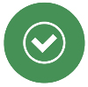 Checkmark Button Icon in Darker Green Color