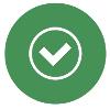 Checkmark Button Icon in Green Color