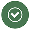 Checkmark Button Icon in Green Color