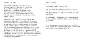 Features and Benefits - Long Copy vs Short Copy