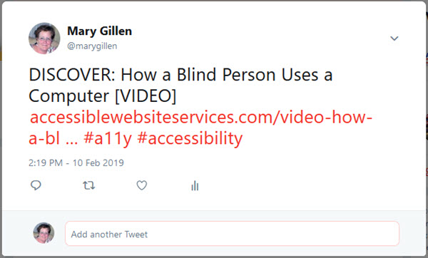 Sample Twitter Tweet depicting correct way to add accessible file link identifier