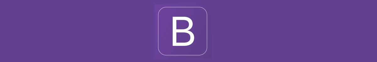 Bootstrap Logo in Purple Color