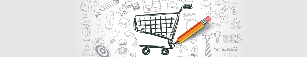 Pencil Drawing of Shopping Cart