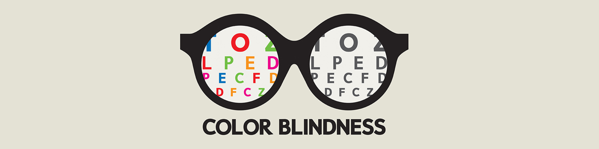 Color Blindness - Illustration of Glasses