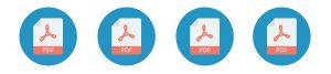 Four Adobe PDF Icons in a row
