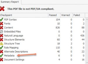 PAC 3 Summary Report Successful Update of PDF/UA identifier