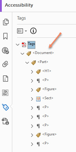 Accessibility Tag Pane Adobe Acrobat Pro DC