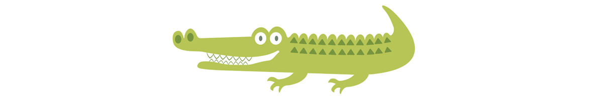 Illustration of Smiling Alligator