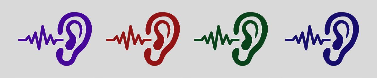 Five audio icons