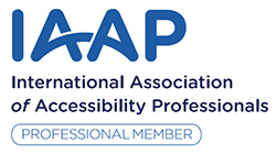 International Association of Accessibility Professionals (IAAP) Professional Membership Logo
