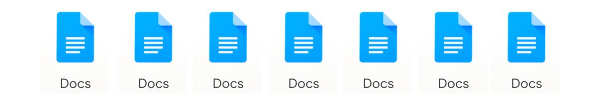 Google Docs Icons