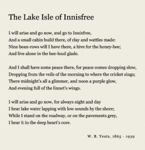 Yeats poem The Lake Isle of Innisfree