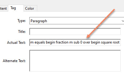 Actual Text option in PDF file