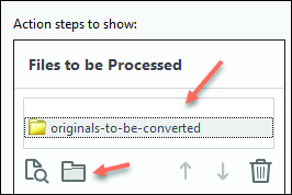 Action steps to show - Adobe Acrobat Pro DC