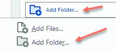 Add Folder Option - Adobe Acrobat Pro DC