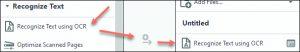 Recognize Text - Adobe Acrobat Pro DC