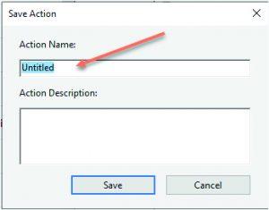 Save Action Dialog Box - Adobe Acrobat Pro DC